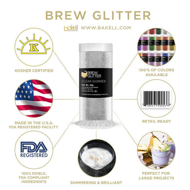 Clear Shimmer Brew Glitter | Wine & Champagne Glitter