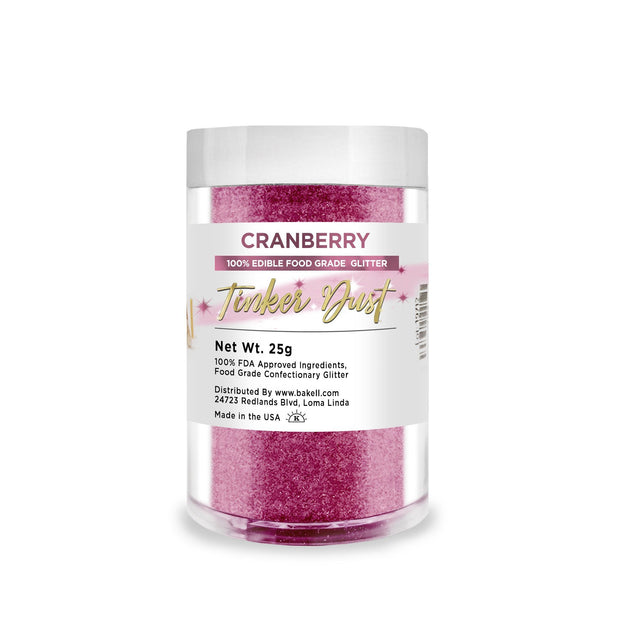 Cranberry Tinker Dust Edible Glitter | Food Grade Glitter
