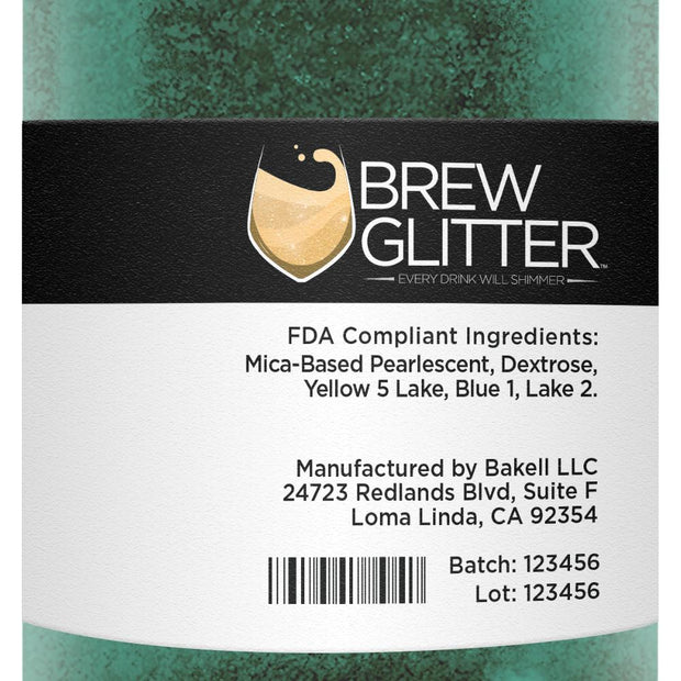 Dark Green Brew Glitter | Coffee & Latte Glitter