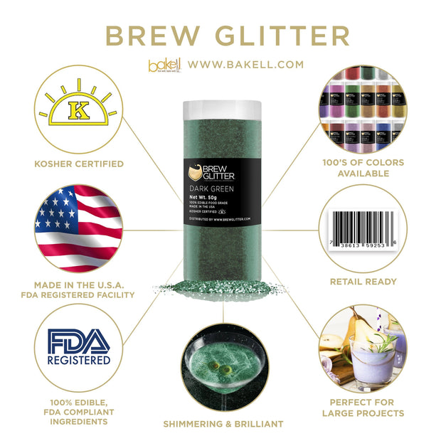 Dark Green Brew Glitter | Iced Tea Glitter