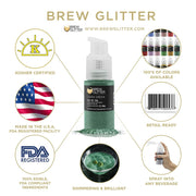 Dark Green Edible Glitter Spray Pump for Drinks