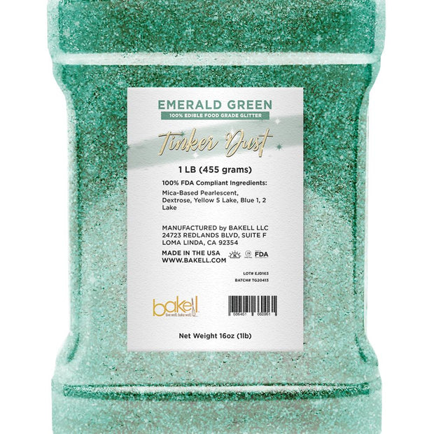 Emerald Green Tinker Dust Edible Glitter | Food Grade Glitter