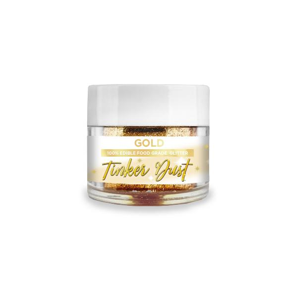 Gold Edible Glitter Tinker Dust | 5 Gram Jar