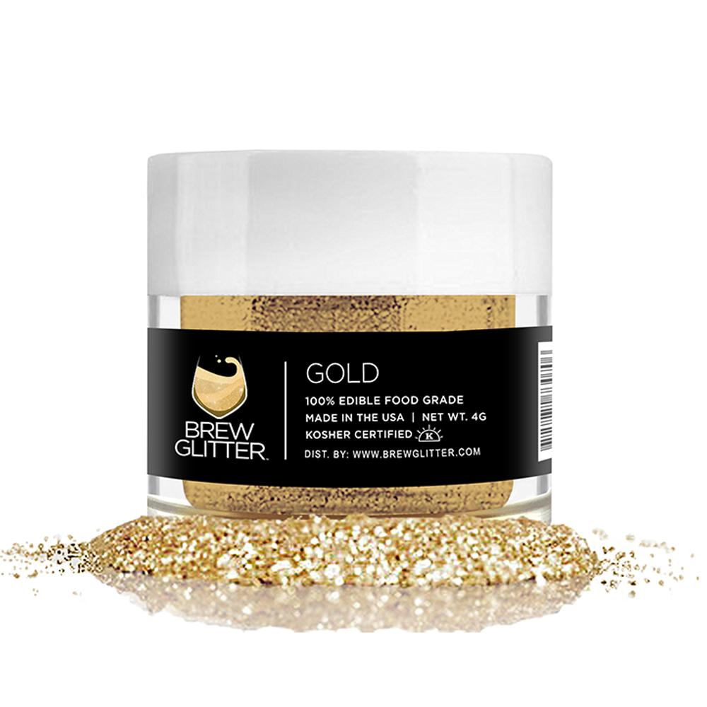 Gold Food Grade Brew Glitter | 4 Gram Jar