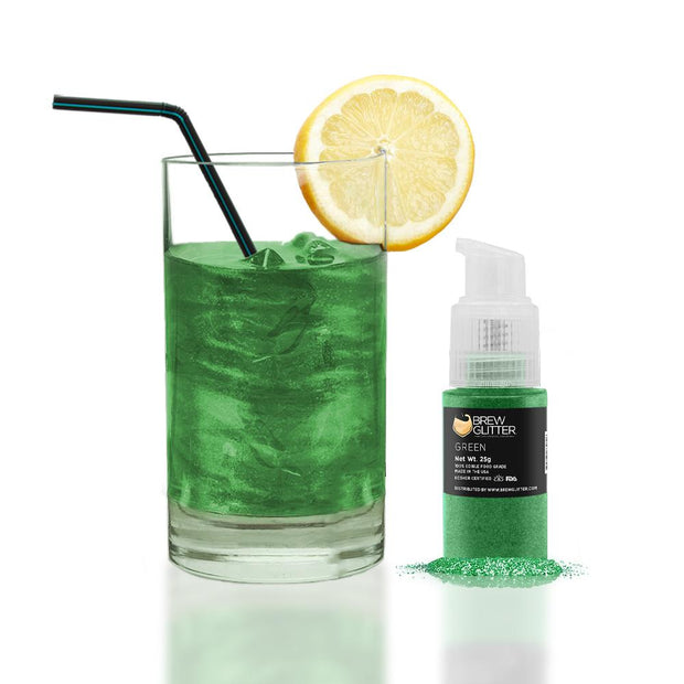 Green Edible Glitter Spray Pump for Drinks