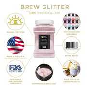 Light Pink Brew Glitter | Edible Glitter for Sports Drinks & Energy Drinks