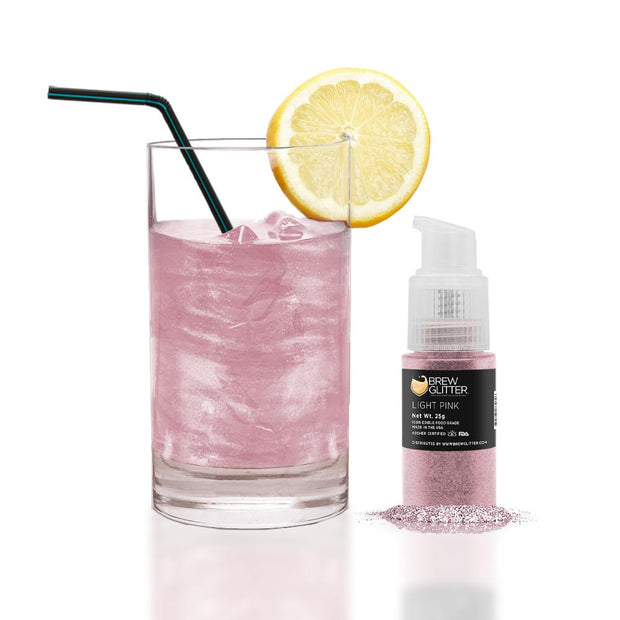Light Pink Edible Glitter Spray Pump for Drinks