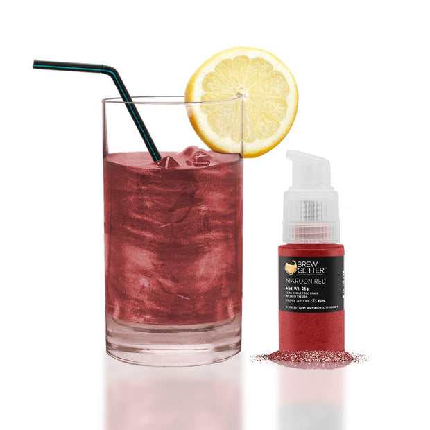 Maroon Edible Glitter Spray Pump for Drinks