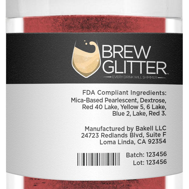 Maroon Red Brew Glitter | Bulk Sizes