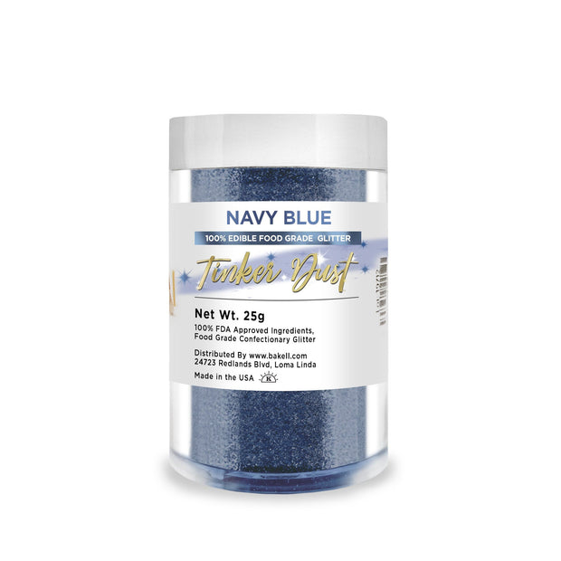 Navy Blue Tinker Dust Edible Glitter | Food Grade Glitter