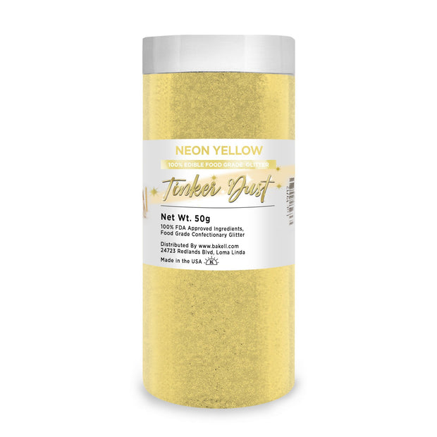 Neon Yellow Tinker Dust Edible Glitter | Food Grade Glitter