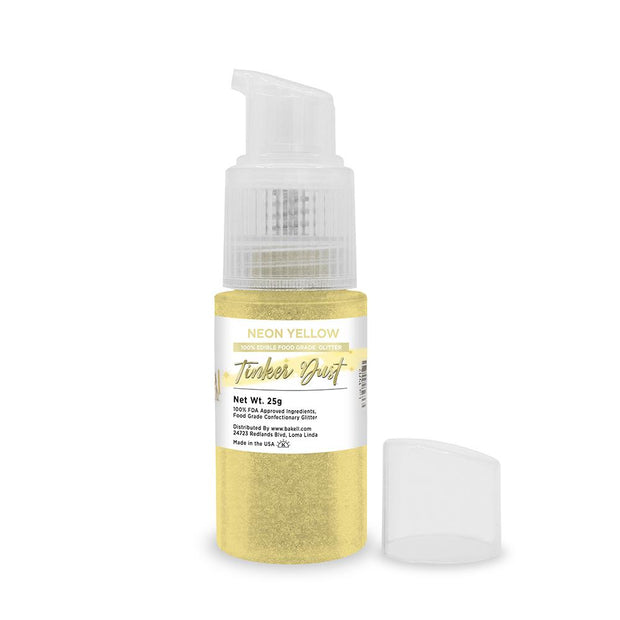 Neon Yellow Tinker Dust Edible Glitter Spray Pump