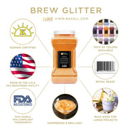 Orange Brew Glitter | Food Grade Beverage Glitter
