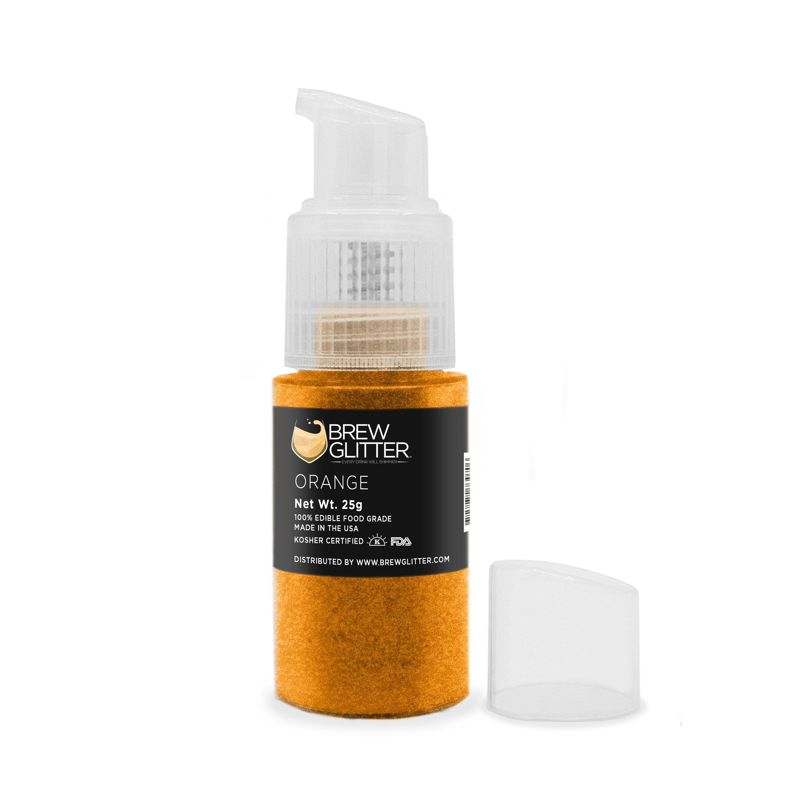Orange Edible Glitter Spray Pump for Drinks