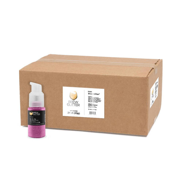 Pink Glitter Spray Pump by the Case