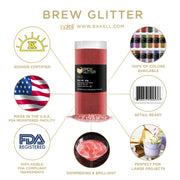 Red Brew Glitter | Food Grade Beverage Glitter