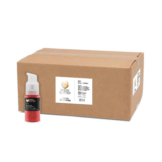 Red Brew Glitter Spray Pump by the Case