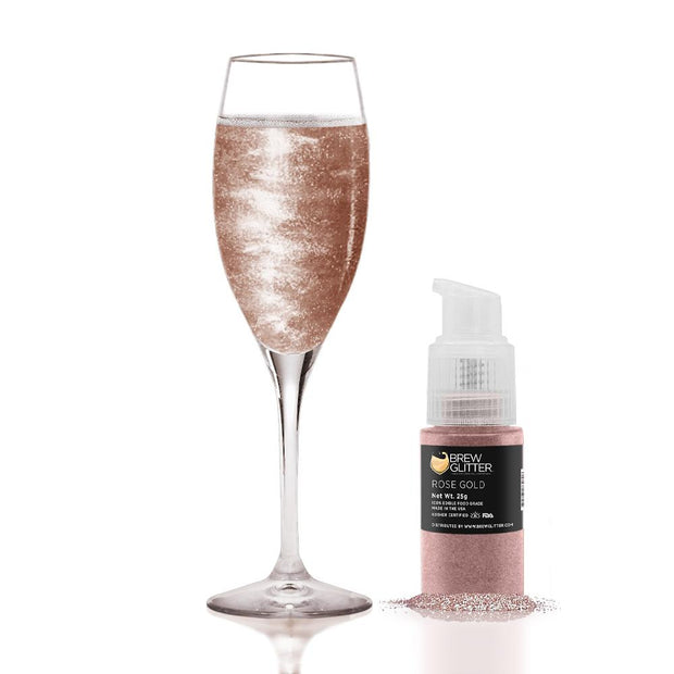 Rose Gold Edible Glitter Spray Pump for Drinks