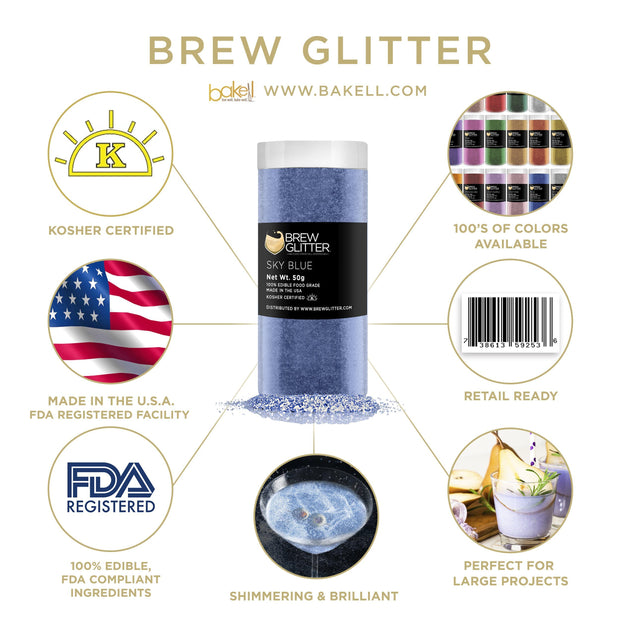 Sky Blue Brew Glitter | Cocktail Beverage Glitter