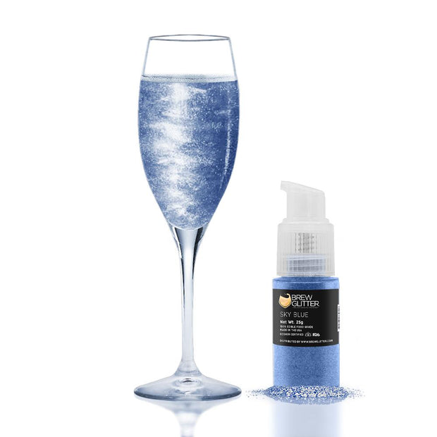 Sky Blue Edible Glitter Spray Pump for Drinks