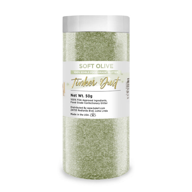 Soft Olive Green Tinker Dust | Edible Food & Garnish Glitter