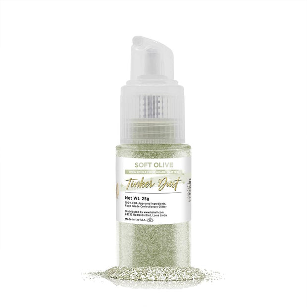 Soft Olive Green Tinker Dust Edible Glitter Spray Pump