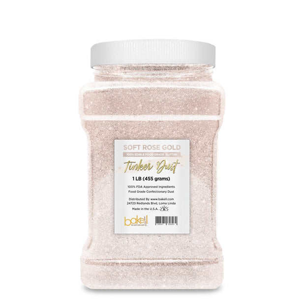 Soft Rose Gold Tinker Dust Edible Glitter | Food Grade Glitter