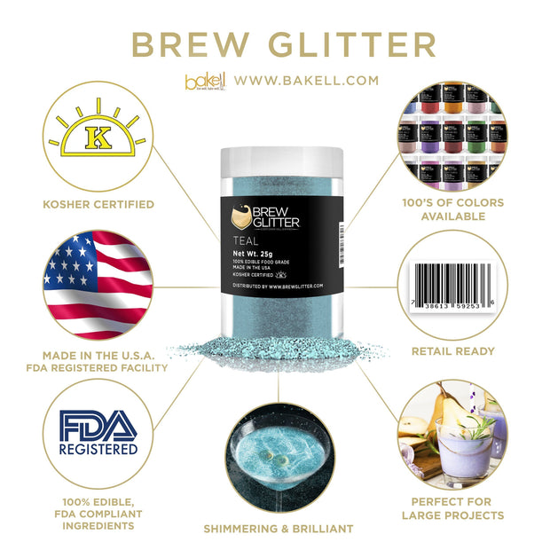Teal Green Brew Glitter | Cocktail Beverage Glitter