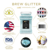 Teal Green Brew Glitter | Coffee & Latte Glitter