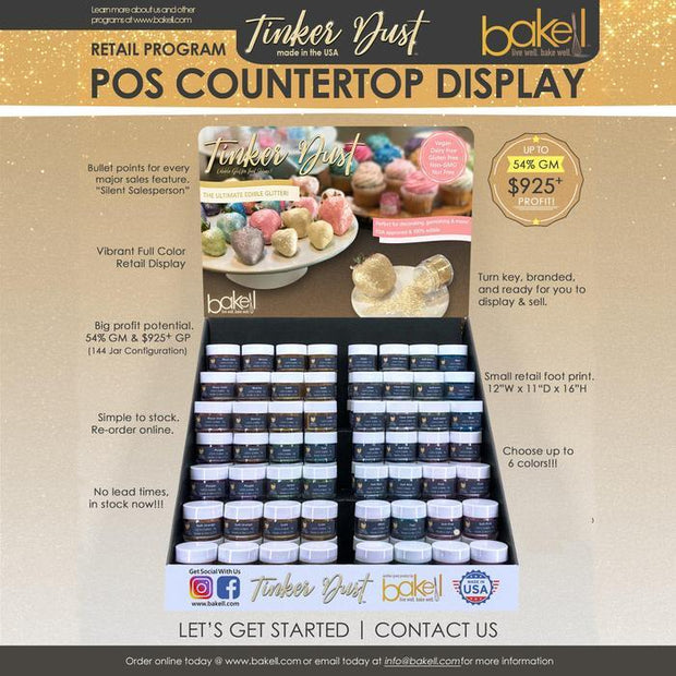 Tinker Dust Countertop POS Retail Display