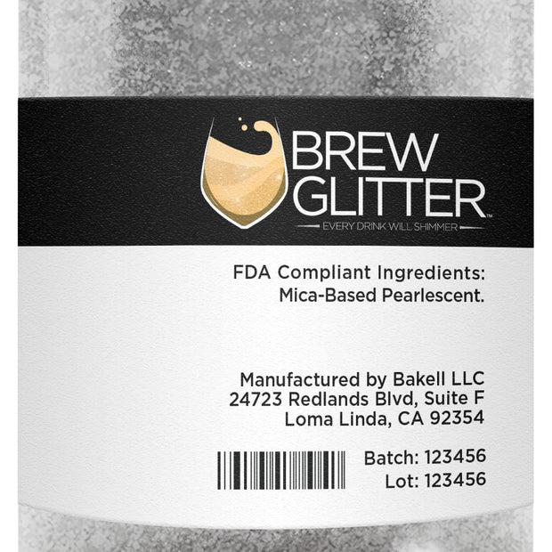 White Brew Glitter | Food Grade Beverage Glitter