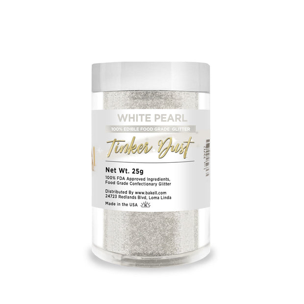 White Pearl Tinker Dust Edible Glitter | Food Grade Glitter