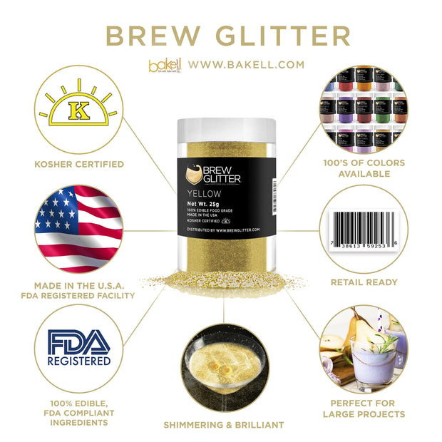 Yellow Brew Glitter | Cocktail Beverage Glitter