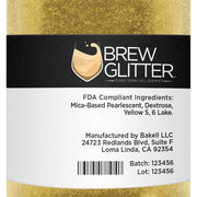 Yellow Brew Glitter | Coffee & Latte Glitter