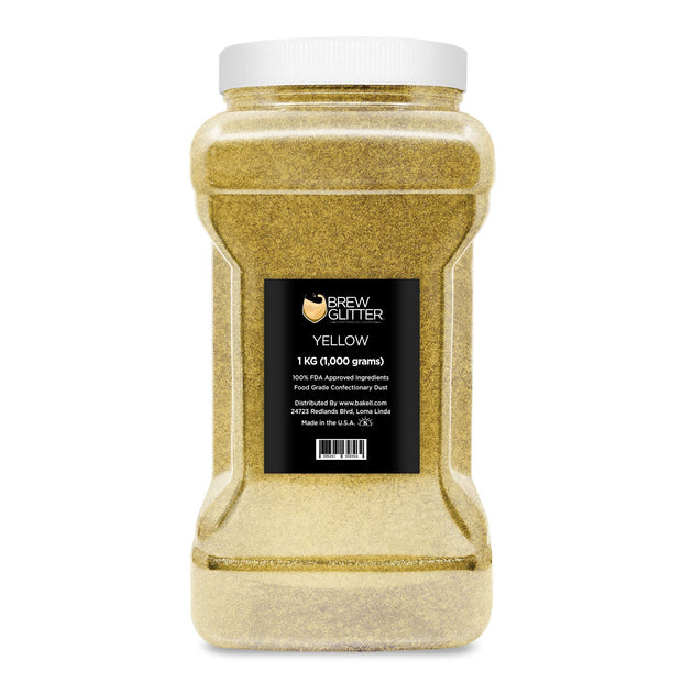 Yellow Brew Glitter | Edible Glitter for Sports Drinks & Energy Drinks