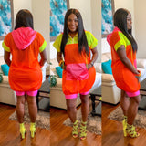 Sporty Colorblock Mesh Dress