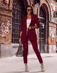 Damenanzug Anzugjacke Elastic Tight Pants, Jacken- und Hosen-Set, LE STYLE DE PARIS, LE STYLE DE PARIS
