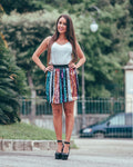Multicolor Sequin Skirt Elastic Casual Flared Flared Waist, Sequin skirt, LE STYLE DE PARIS, LE STYLE DE PARIS