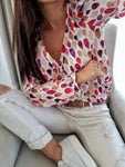 Shirt Woman Fantasy Long Sleeve Buttons, Shirt, LE STYLE DE PARIS, LE STYLE DE PARIS