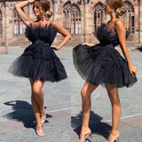 Flared Woman Dress Tul Wide Wide Bell Elegant Band Party Events Party، Dress، LE STYLE DE PARIS، LE STYLE DE PARIS