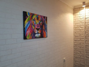 DIY ABSTRACT LION PAINTING
