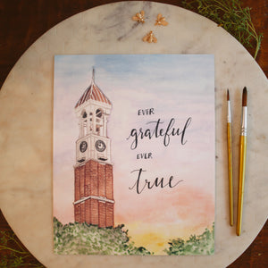 Purdue Bell Tower Print