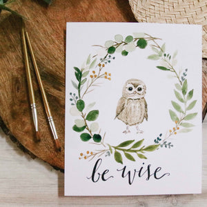 Be Wise Owl Print