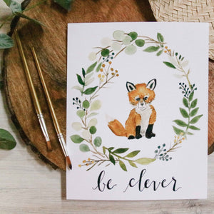 Be Clever Fox Print