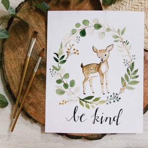 Be Kind Doe Print