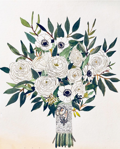Custom Bridal Bouquet Painting