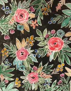 Edith Midnight Floral Print