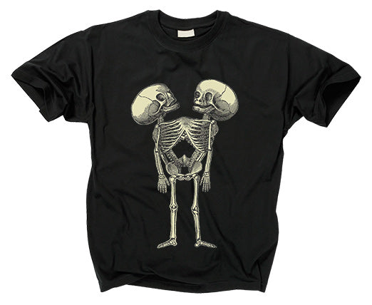 2 HEADED CONJOINED FETAL SKELETON - T shirt