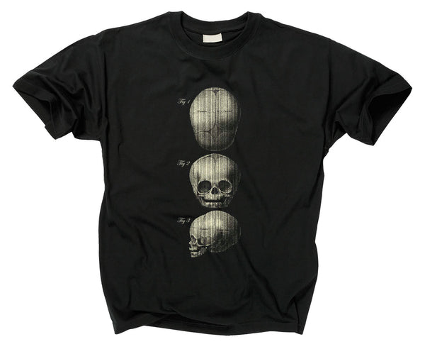 3 FETAL SKULLS DIAGRAM - T shirt