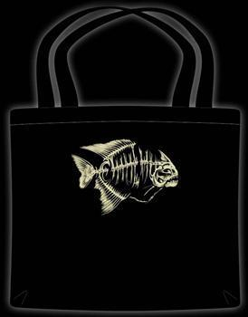RED BELLY PIRANHA SKELETON - Tote Bag